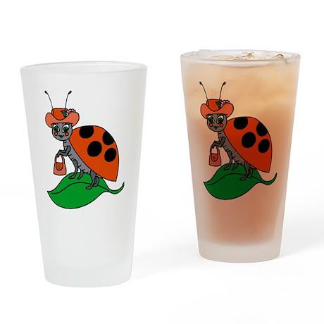 Ladybug Pint Glass