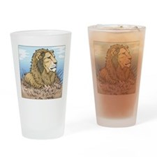 Lion Pint Glass