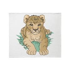 Lion Cub Throw Blanket