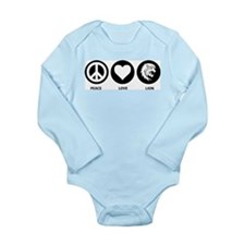 Peace Love Lion Long Sleeve Infant Bodysuit