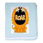 Lion Roar baby blanket