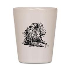 Hand Sketched Lion Shot Glass
