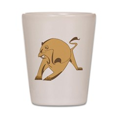 Stylish Lion Shot Glass