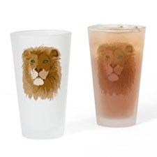 Realistic Lion Pint Glass