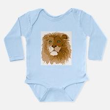 Realistic Lion Long Sleeve Infant Bodysuit