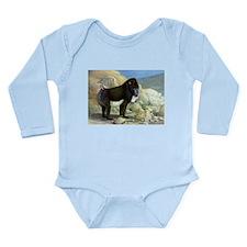 Baboon Art Long Sleeve Infant Bodysuit