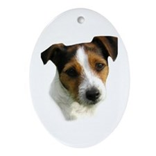 Jack Russell Watercolor Oval Ornament