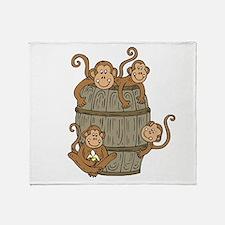 Barrel Monkey Throw Blanket