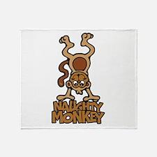 Naughty Monkey Throw Blanket