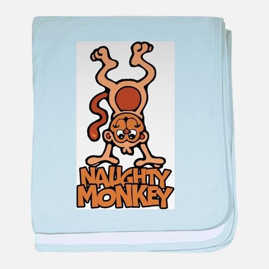 Naughty Monkey baby blanket