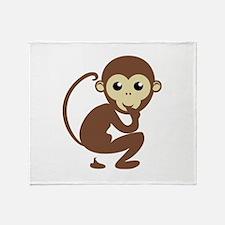 Poo Monkey Throw Blanket