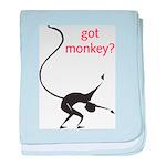 Got Monkey? baby blanket