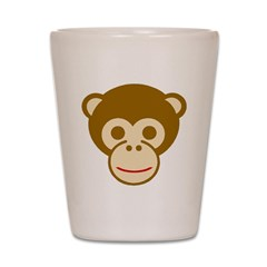 Monkey Face Shot Glass