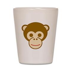 Monkey Face Shot Glass