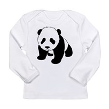 Cute Baby Panda Long Sleeve Infant T-Shirt