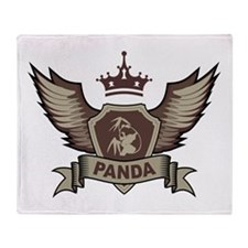 Panda Emblem Throw Blanket
