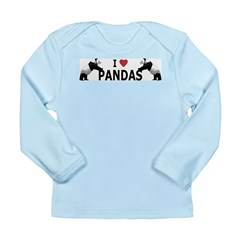 I Love Pandas Long Sleeve Infant T-Shirt