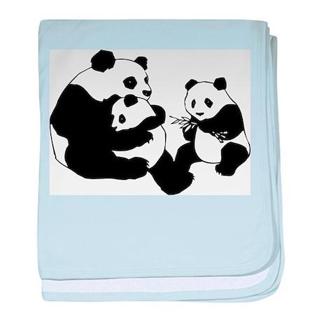 Panda Family baby blanket