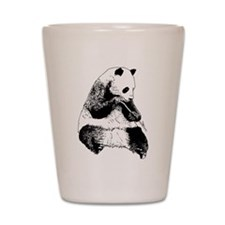 Hand Sketched Panda Shot Glass