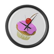 Funny Cupcake Large Wall Clock