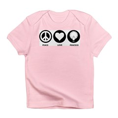 Peace Love Peacock Infant T-Shirt