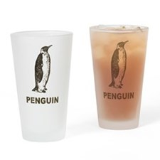 Vintage Penguin Pint Glass