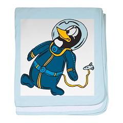 Space Penguin baby blanket
