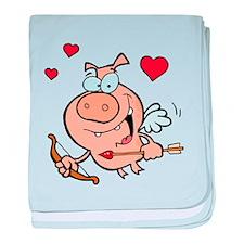 Cupid Pig baby blanket