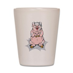 Happy Pig Shot Glass