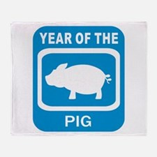 Year Of The Pig Throw Blanket