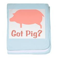Got Pig? baby blanket