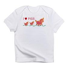I Love Pigs Infant T-Shirt