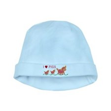 I Love Pigs baby hat