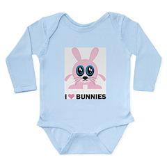 I Love Bunnies Long Sleeve Infant Bodysuit