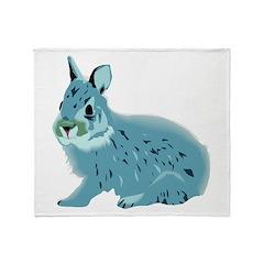 Hand Sketched Rabbit Throw Blanket