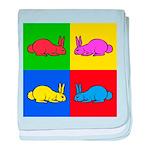 Pop Art Rabbit baby blanket