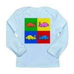 Pop Art Rabbit Long Sleeve Infant T-Shirt