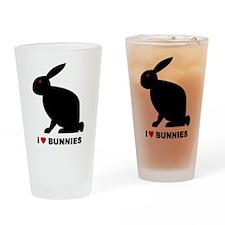 I Love Bunnies Pint Glass