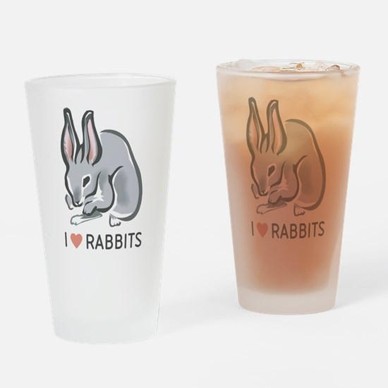 I Love Rabbits Pint Glass