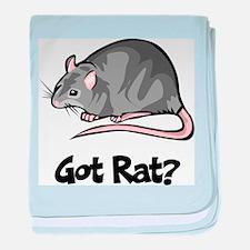 Got Rat? baby blanket