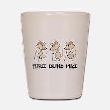 Three Blind Mice Shot Glass