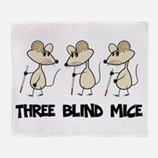 Three Blind Mice Throw Blanket
