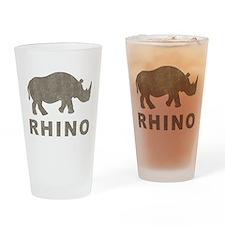 Vintage Rhino Pint Glass