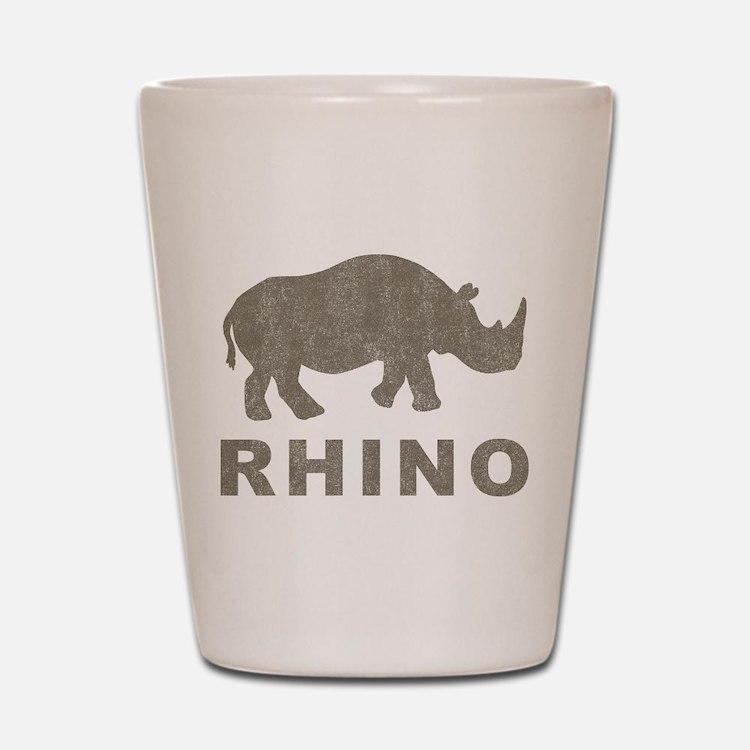 Vintage Rhino Shot Glass