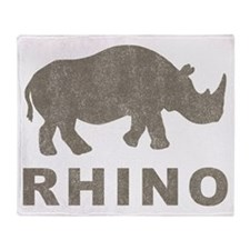 Vintage Rhino Throw Blanket