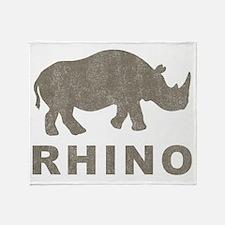 Vintage Rhino Throw Blanket