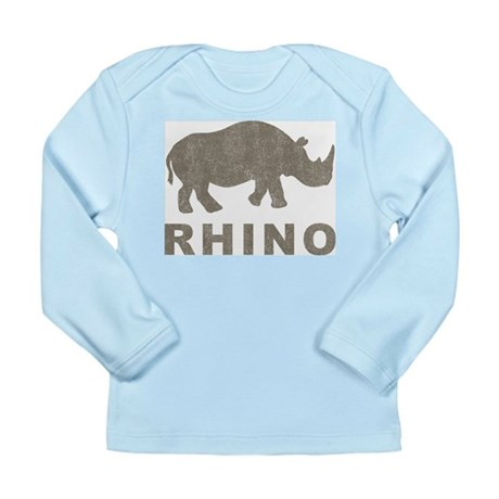 Vintage Rhino Long Sleeve Infant T-Shirt