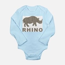Vintage Rhino Long Sleeve Infant Bodysuit