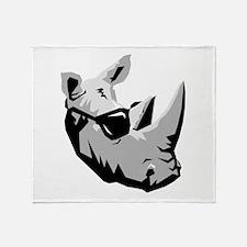 Cool Rhinoceros Throw Blanket