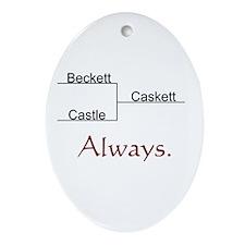 Beckett Castle Caskett Always Ornament (Oval)